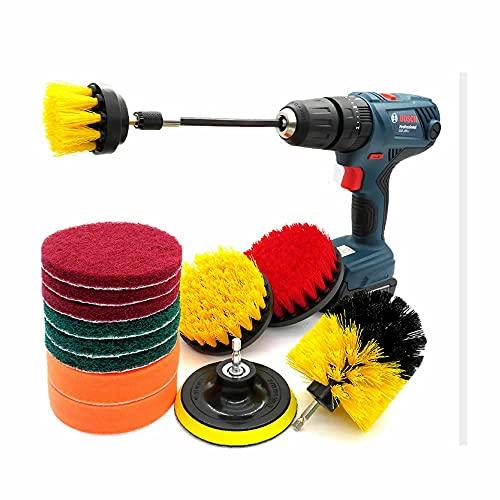 電動ドライバー ブラシ アタッチメント 14点セット ドリルブラシ スクラブパッド スクラバー 掃除 洗車 磨き カーペット