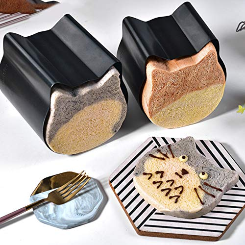 Bakeware Bread Loaf Pans Toast Cake Mold, Cute Cat Head Shaped Toast Box Mold, Non Stick Bread Loaf Pan Baking Supplies for Home Kitchen Tool Toast Baking Accessories (S+L)