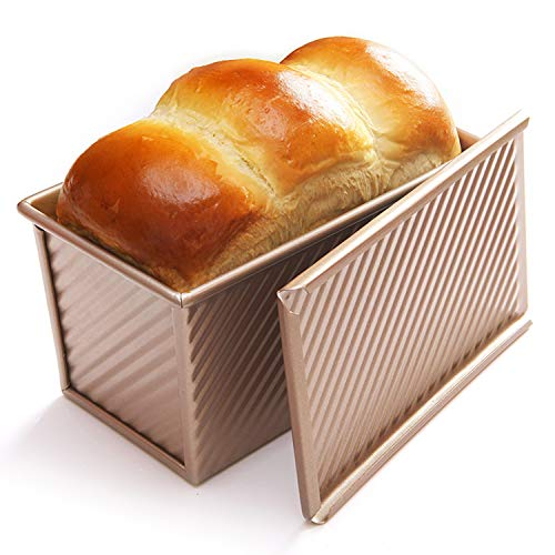 CHEFMADE Loaf Pan with Lid, Non-Stick Bread Pan Bakeware Durable Carbon Steel Bread Toast Mold with Cover Bread Pan for Baking Bread Pan Bread Tin for Homemade Cakes, Breads and Meatloaf