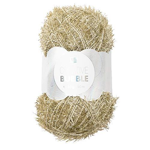 Rico Creative Bubble 50g Stricken Wolle Strick Schwäme häckeln Metallic-Gold