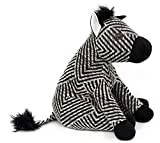 Carousel Home and Gifts Fabric Black and White Striped Zebra Animal Doorstop ~ Novelty Decorative Door Stop