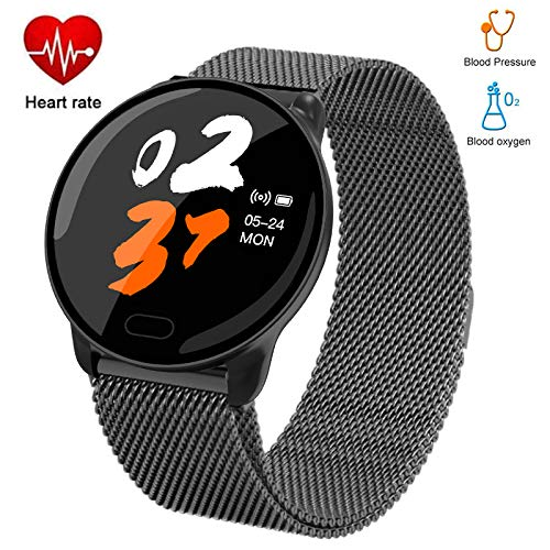 Byoung Smart Sport Watches for Men, IP67 Waterproof Smart Bracelet with Step Counter Sleep Monitor Fitness Tracker with Heart Rate Monitor/Blood Pressure Call Reminder Compatible iOS Android, Black Categories