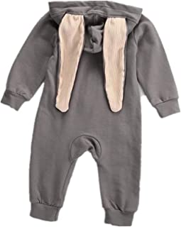 e151aaac608d Lucoo Baby Romper Newborn Infant Baby Girl Boy Rabbit 3D Ear Warm Romper  Jumpsuit Outfits Clothes