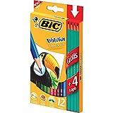 Oferta Lápis de Cor Sextavado, BIC 902545, Multicor, Pacote de 6 por R$ 47.89