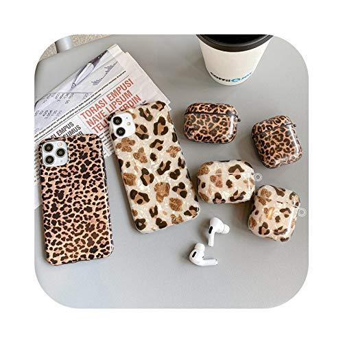Retro leopardo spot pintado teléfono caso para Apple airpods 2 pro auricular caso para iphone 11pro x XR XS MAX 7 8 Plus silicona cubierta