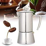 MXBAOHENG Moka Pot Stovetop Espresso Coffee Maker Stainless Steel Mocha Pot (6 Cup Moka Pot)