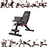SAQIMA Multifunctional Home Gym Adjustable Weight Bench Foldable Workout Bench Adjustable Sit Up AB Incline Abs Bench Flat Fly Press Fitness Rope,Weight Press Fitness