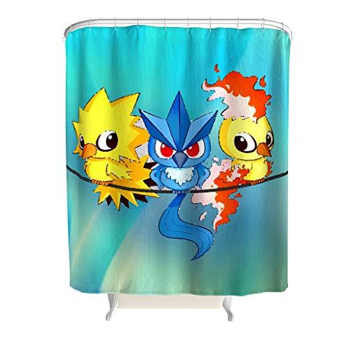 Born for-Anime Duschvorhang mit Tiermotiv, personalisierbar, ohne chemische Gerüche, weiß, 180x200cm