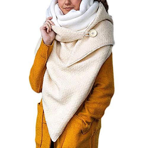Lius Coperta Avvolgente con Scialle Termico per Sciarpa a Triangolo Grande Invernale da Donna con Bottone