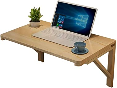 Folding Wall-Mounted Table Solid Wood Wall Table Dining Table Foldable Computer Desk Learning Table Wall-Mounted Table 100 *