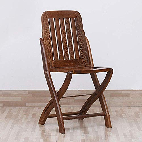 YUXIwang Silla Silla de comedor silla del ocio Silla de oficina Silla de oficina plegable portátil adaptaciones for coches de la sala de estar al aire libre de cocina (Color: Marrón, Tamaño: 35x33x78c