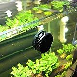 Fabater Mini Cepillo de Acuario de 3 Piezas para acuarios pequeños, Limpiador magnético de acuarios, Herramienta de Limpieza de Vidrio Negro para acuarios pequeños