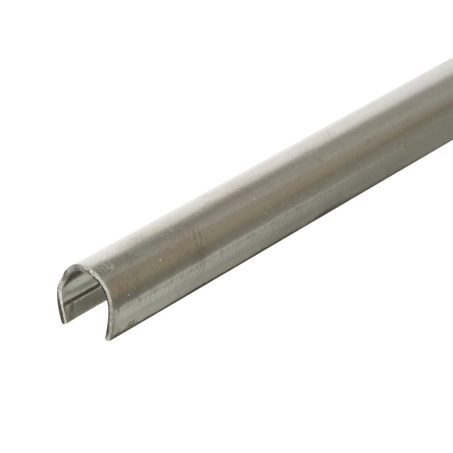 "PRIME-LINE D 1579-1 Sliding Door Repair Track – Repair Worn or Damaged Sliding Glass Door Aluminum Tracks and Horizontal Sliding Window Tracks, 1/4"" x 8', Stainless Steel"