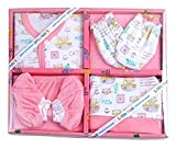 Little Hub New Born Unisex Baby 6pcs Gift Set (Pink, 0-3 months)