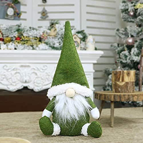Christmas Decoration, Doll Window Display Christmas Decorations Norse Style Decorations Doll Santa Claus Father Christmas Christmas Santa (Gray,31 16cm)