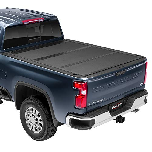 UnderCover ArmorFlex Hard Folding Truck Bed Tonneau Cover | AX42008 | Fits 2007 - 2021 Toyota Tundra w/ rail system 5' 7' Bed...