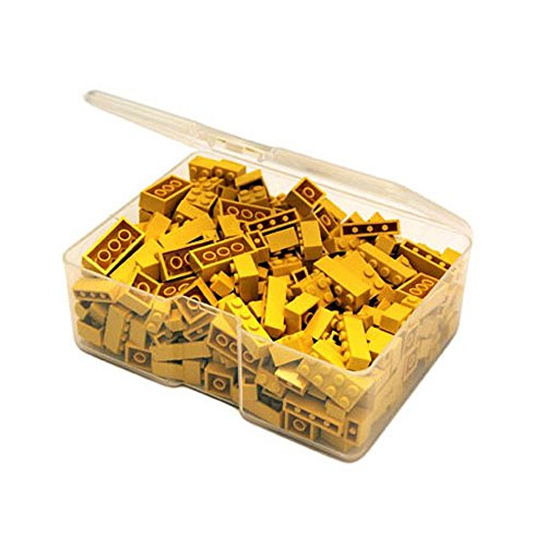 Q-Bricks Unicolor Basic Bausteine Piccolo Box (300, gelb)