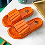 Chanclas para adultos, sandalias de tanga para la playa, zapatillas de baño de suela blanda, sandalias de suela gruesa para parejas en casa-Orange_5-5.5, zapatos de piscina con suela de espuma suave