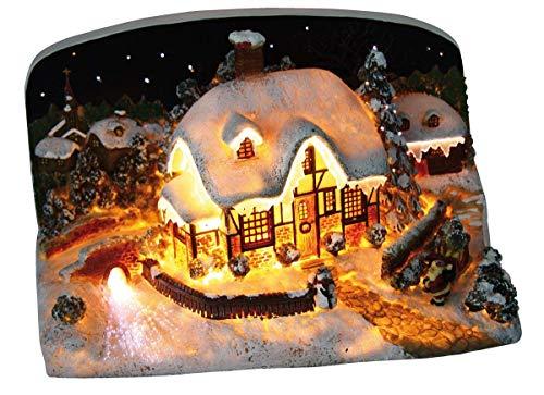 weihnachtshaus beleuchtet fiberoptik