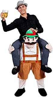 Bavarian Oktoberfest Beer Guy Carry Me Ride On Stag Mascot Costume Green