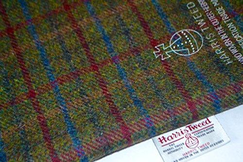 Harris Tweed-Tela 100% pura lana virgen verde Ciruela y azul tartán Metro 100/75cm también se vende como medio metro) & Craft paquetes Ver Handmaiden Otros Productos del Reino Unido