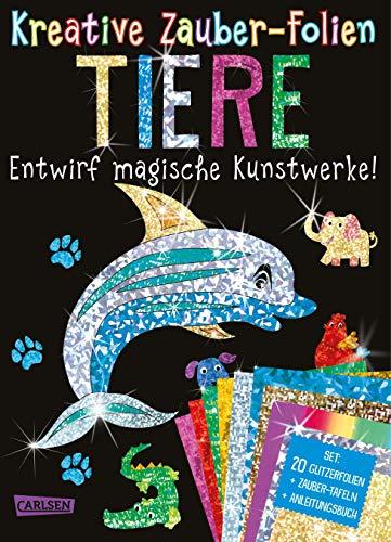 Kreative Zauber-Folien: Tiere: Set mit 10 Zaubertafeln, 20 Folien und Anleitungsbuch: Kinderbeschäftigung ab 5