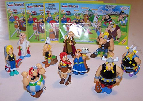Ü-Ei (Kinder Überraschungsei) Sammelfiguren Set - Komplettsatz ASTERIX UND DIE WIKINGER - alle 10 erschienenen Figuren