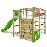 FATMOOSE Parque infantil de madera FitFrame Fresh XXL con tobogán, Área de Juegos da...