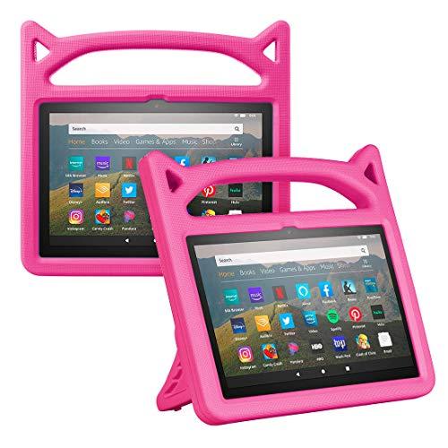Foluu - Custodia protettiva antiurto per Kindle Fire HD 8 e Fire HD 8 Plus (10ª generazione, versione 2020), per bambini, con supporto per Kindle Fire HD 8 2020, colore: Rosa