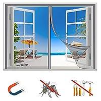 磁気蚊帳、昆虫スクリーン、蚊帳、蚊帳、磁気蚊帳、磁気蚊帳、磁気スクリーン付きネット、昆虫の侵入を防ぎ、新鮮な空気を取り入れ、自動的に閉じ、組み立てが簡単で、サイズのカスタマイズをサポートします -200×170cm(79×67inch)