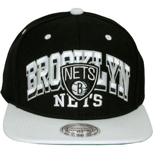 Mitchell & Ness - Casquette Snapback Homme Brooklyn Nets 2x Arch