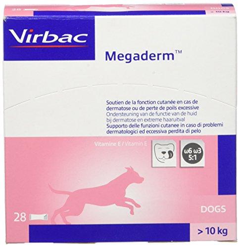 Mega Derm monodos ierung 28x 8ml para perros y gatos–Omega Contiene 6y ácidos grasos Omega 3para colocación de piel y piel