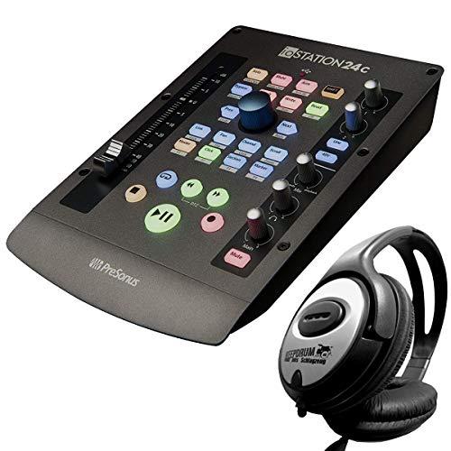 Presonus ioStation 24C - Interfaccia audio USB e controller DAW + cuffie Keepdrum