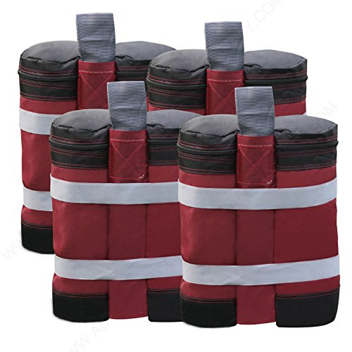 ABCCANOPY Canopy Weights Instant Shelters Sandbags Weight Bags, Set of 4 -Burgundy