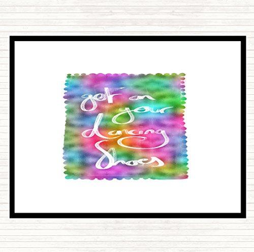 Krijg op uw dansende schoenen Rainbow Quote diner tafel Placemat