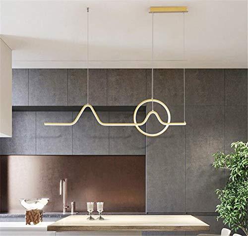 Kronleuchter LED Esszimmer Golden Light Moderne kreative einfache Bar Tischlampe,Gold