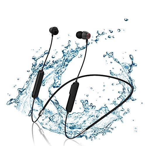 Cuffie Bluetooth 5.0 Sport Bassi Potenziati, Auricolari Wireless Magnetici in Ear con 10 Ore di Tempo di Utilizzo, Resistente al Sudore, Microfono Incorporato, per iPhone, Huawei, Samsung