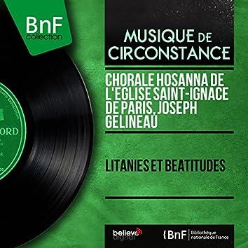 Litanies et béatitudes (feat. Paule Piédelièvre) [Mono Version]