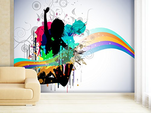 XXL-Tapeten Fototapete Colorful Dance - weitere Größen und Materialien wählbar - DEUTSCHE Profi QUALITÄT von Trendwände