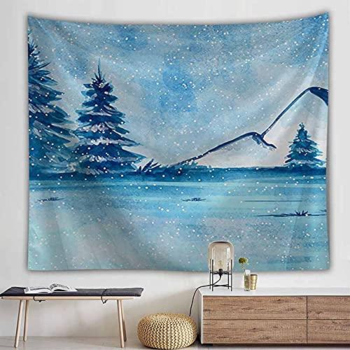 Paisaje nieve montaña tapiz colgante de pared tapiz hippie natural revestimiento de pared decoración del hogar tapiz psicodélico A4 130x150cm