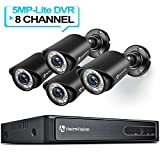 HeimVision HM245 1080P Security Camera System, 8CH 5MP-Lite DVR 4Pcs 1920TVL Outdoor Wired CCTV Camera with Night Vision, Motion Alert, No Hard Drive