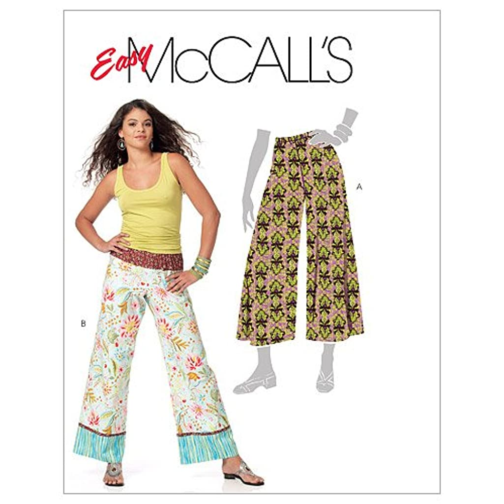 McCall's Patterns M5813 Misses'/Miss Petite Pants in 2 Lengths, Size Z (LRG-XLG)