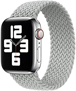 D'VOGUE Braided Solo Loop Elastic Bands Compatible for Apple Watch, Stretchy Sports Unisex Wristband with no Clasps or Buc...