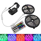 KIODS LED Tira RGB Led Strip Light 12V SMD 5050 Flexible Ribbon Stripe DC 12V RGB Diode Tape Fita De 5M 10M with IR Controller Adapter Set