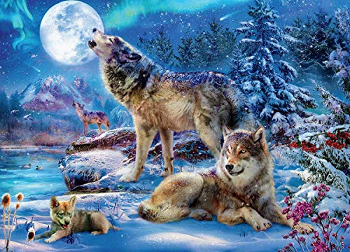 Wolves Winter Wolf Family Puzzle - 1000Piece
