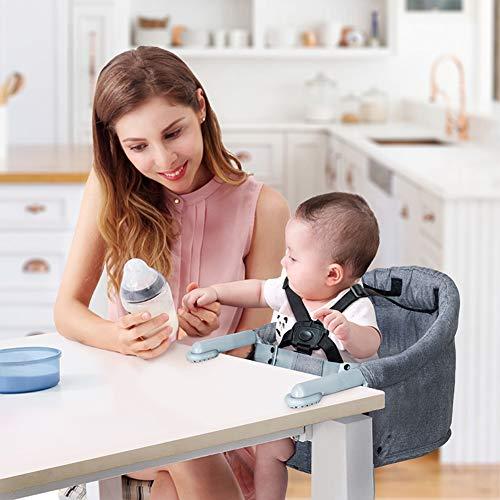 Fast Table Chair, Haken am Stuhl, Säuglingsernährung Hochstuhl Baby Booster Seat Tragbarer Reise-Klappstuhl Esstisch...