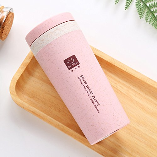 SHAWE Double Walled Vacuum Insulated Travel/Home/Office Coffee Mug, So lightly 120g, Sports Water Bottle, 300ml (Pink-300ml)