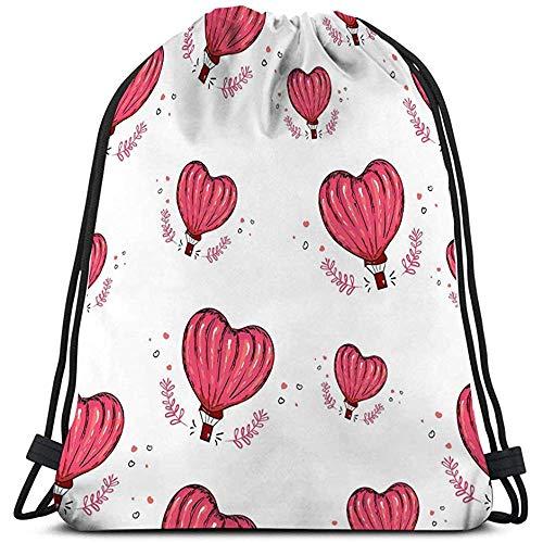 Trekkoord Bag hete lucht ballon hart liefde perfecte wallpaper vullen web pagina oppervlak texturen textiel Grafische