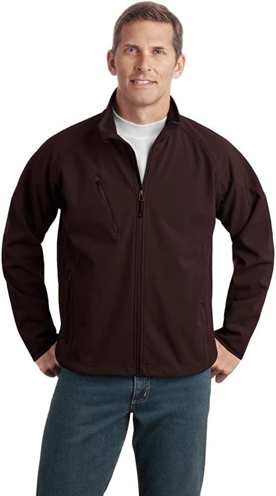 Port Authority Tall Textured Soft Shell Jacket, LT, Cafe Brown