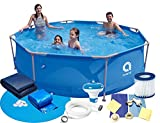 Gartenpool 305x76 cm 10 FT Mega Set 16in1! Pool Avenli Schwimmbad Stahlrahmenbecken